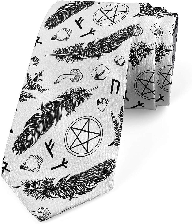 Ambesonne Necktie, Element Composition, Dress Tie, 3.7