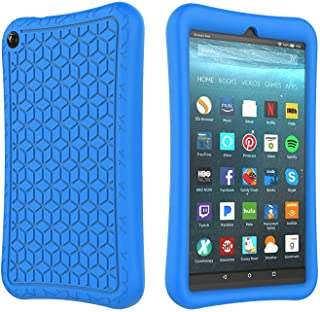 SUPWANT Silicone Case for All-New Fire 7 2019 - Light Weight Shockproof Kid Proof Protective Case Back Cover for Amazon Fire 7 Inch 2019 Tablet (9th Generation - 2019 Release) , Blue