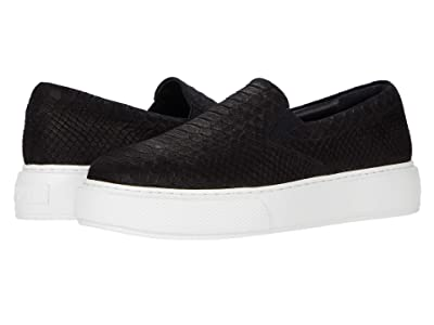 J/Slides Delia (Black Embossed Leather) Women