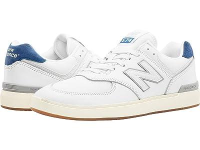 New Balance Numeric AM574 (White/Blue) Skate Shoes