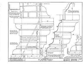 Historic Pictoric Blueprint Diagram HABS VA,64-TUN.V,4- (Sheet 9 of 9) - St. Peter's Church, State Route 642, Tunstall, New Kent County, VA 44in x 32in