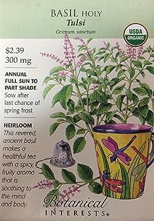 BOTANICAL INTERESTS Organic Basil Holy Seed, 1 EA