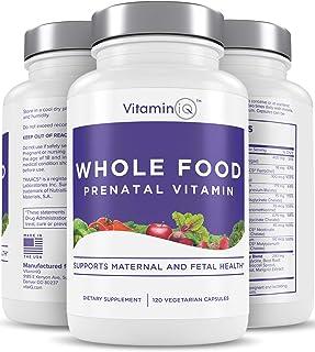VitaminIQ Whole Food Prenatal Vitamins, Natural Supplement Support for Maternal & Fetal Health, Healthy Baby, Healthy Mom,...