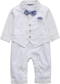 boy baptism outfit with suspenders