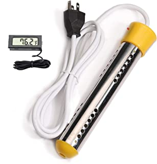CalPalmy Immersion Heater | Submersible Water Heating with Stainless-Steel Guard and..