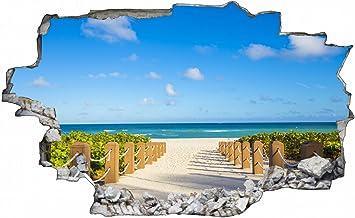 Weg Zum Strand Meer Landschaft Wandtattoo Wandsticker Wandaufkleber C0395 Grosse 100 Cm X 150 Cm Amazon De Kuche Haushalt