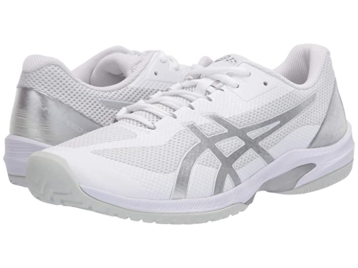 ASICS  Court Speed FF (White/Pure Silver) Mens Tennis Shoes