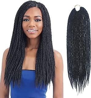 LOSMOEER Senegalese Twist Crochet Hair 8 Packs 18 Inch Dreadlocks Box Braids Small Havana Mambo Twist Braiding Hair Extensions Synthetic Braiding Hair for Women (8 Bundles, 1B#)
