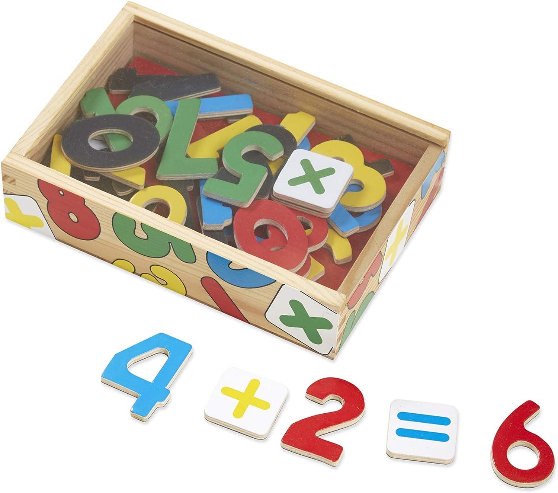 Melissa & Doug - Juego de números magnéticos de madera, 37 piezas (10449) , color/modelo surtido