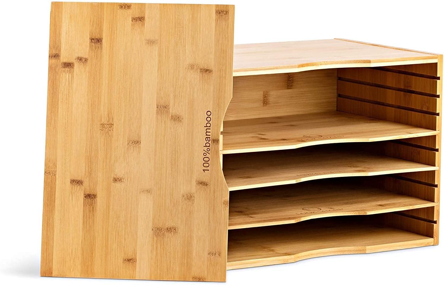100% Bamboo Desk Rare Organizer – Gorgeous low-pricing 9 C 5 Options Shelf