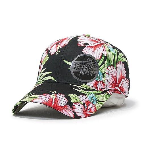 17c5b68a47a Premium Floral Hawaiian Cotton Twill Adjustable Snapback Baseball Caps