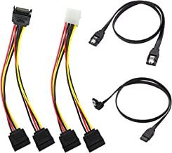 SATA Cable, SATA Data Cable and SATA Power Splitter Cable (4 Pack) SATA III Cable 6.0 Gbps SATA 3.0 Cable,15 Pin Power Spl...