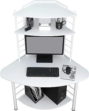 SixBros. Office - Scrivania Ufficio Porta pc angolare - Blanco B-1010/2076