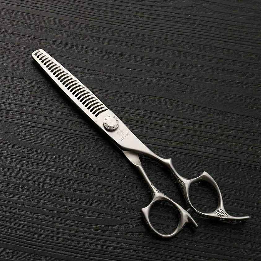 かみそりオープナー泣く理髪用はさみ 新しいスタイル6インチ美容院プロのヘアカット間伐歯はさみ、26歯アントラー歯理髪はさみヘアカット鋏ステンレス理髪はさみ (色 : Silver)