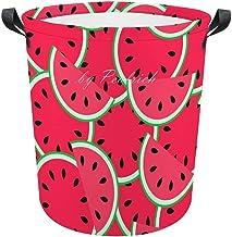 Lightweight Laundry Hamper, Cool Water Melon Food Fruit Art Waterproof Foldable Laundry Hampers with Handles Laundry Baske...