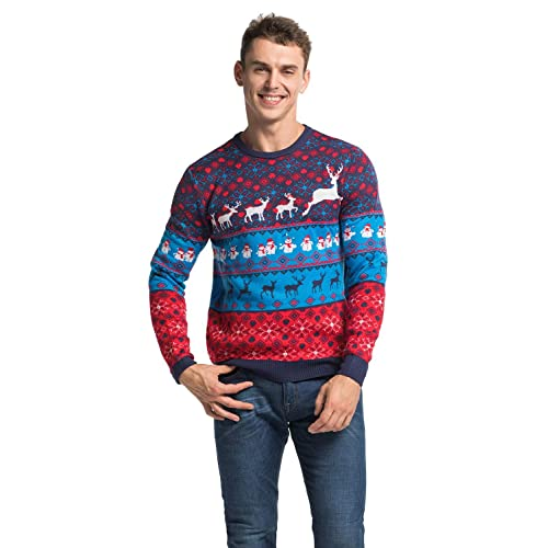 04281192549 YOU LOOK UGLY TODAY Unisex Men's Ugly Christmas Jumper Funny Santa Reindeer  Elf Xmas Sweater Top
