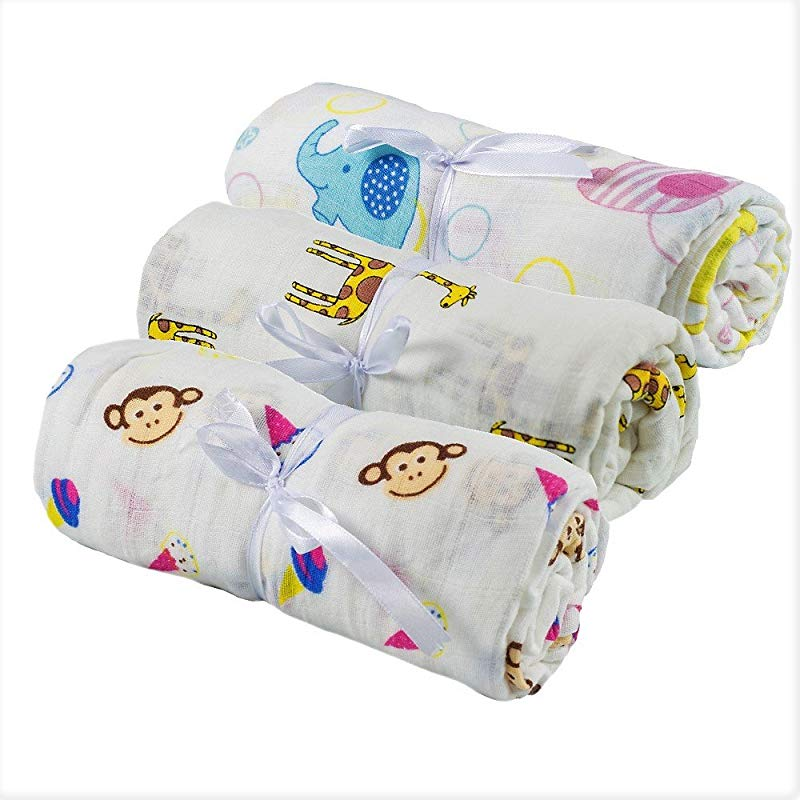 Bee Baby Muslin Swaddle Receiving Blankets Newborn Crib Bedding Set Large