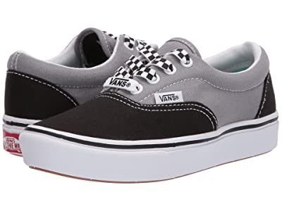 Vans Kids ComfyCush Era (Little Kid) ((Lace Mix) Black/Frost Gray) Boys Shoes