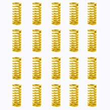 TinaWood 20 Pack 8mm OD 20mm Long Light Load Springs 3D Printer Compression Mould Die Spring for The Ender 3s Bed Yellow