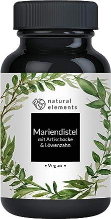Mariendistel Artischocke Löwenzahn Komplex - 120 Kapseln - Vergleichssieger 2019* - Hochdosiert mit 80% Silymarin - Ohne Magnesiumstearat, vegan und hergestellt in Deutschland