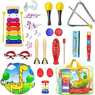 Paochocky 23PCS Instrument de Musique pour Enfant, Les Enfants d'âge Préscolaire et Les Bébés Instruments de Percussion en...