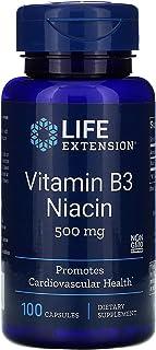 Life Extension Vitamin B3 Niacin, 500 Milligram, 100 Capsules