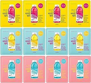 [ENTIA] Vitamin E, C, B Water Mask 30ml Pack of 12-3 Type Moisturizing Vitamin Facial Mask Sheet, Nourishing & Moisturizing (Vitamin E), Brightening (Vitamin C), Soothing & Calming (Vitamin B)