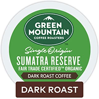 Green Mountain Coffee Roasters Sumatran Reserve Keurig Single-Serve K-Cup Pods, Dark Roast Coffee, 72 Count (6 Boxes of 12 Pods)