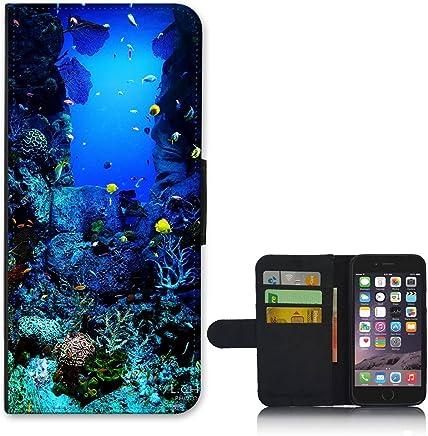 For Apple iPhone 6 PLUS - Underwater Oasis Wallet Flip Cover