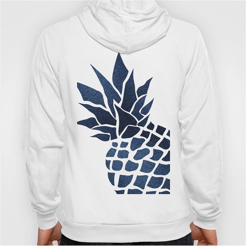 Pineapple Big Blue Denim Navy Very popular mart by Megan Morris Hoodi on Graphic