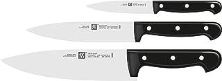 ZWILLING Set de 3 Couteaux, Couteau à Larder/à Garnir, Couteau de Chef, Couteau à Viande, Acier Inoxydable Spécial/Manche ...