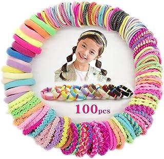 ربطات شعر مطاطية للبنات الرضع، 100 قطعة 10 ألوان، بدون تجاعيد، أربطة مطاطية ناعمة صغيرة للأطفال والنساء والرجال، مقاس صغير...