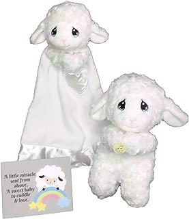 Aurora World Precious Moments Praying Plush Luffie Lamb 10 Toy, Bundled with Luvster Luffie Lamb Plush Blanket, and Bonus Baby Gift Greeting Card