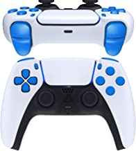 eXtremeRate Replacement D-pad R1 L1 R2 L2 Triggers Share Options Face Buttons for DualSense 5 PS5 Controller, Blue Full Se...