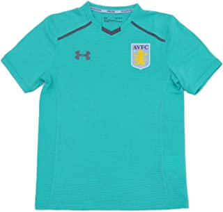 Aston Villa FC Official Gift Boys Youth Poly Training Kit T-Shirt 7-8 Years YSM
