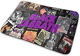 SeanMUllery Black Sabbath Flannel Carpet Bath Mat Non Slip Rugs Shoe Scraper Square for Inside Outdoor (15.7