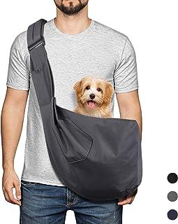 YUDODO Pet Dog Sling Carrier Bag Adjustable Padded Strap Dog Purse Tote Hand Free Safe Mesh Pet Carrier for Small Medium D...