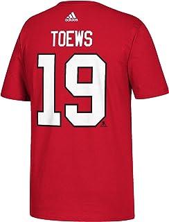 Jonathan Toews Chicago Blackhawks Adidas NHL röd spelare T-shirt för män