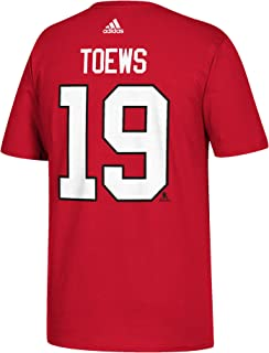 adidas Jonathan Toews Chicago Blackhawks NHL Men's Red Player T-Shirt
