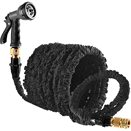 Suplong Expandable Garden Hose 3 Times Expandable Flexible Hose Pipe With Hose Gun Spray/Brass Hose Connector Fittings