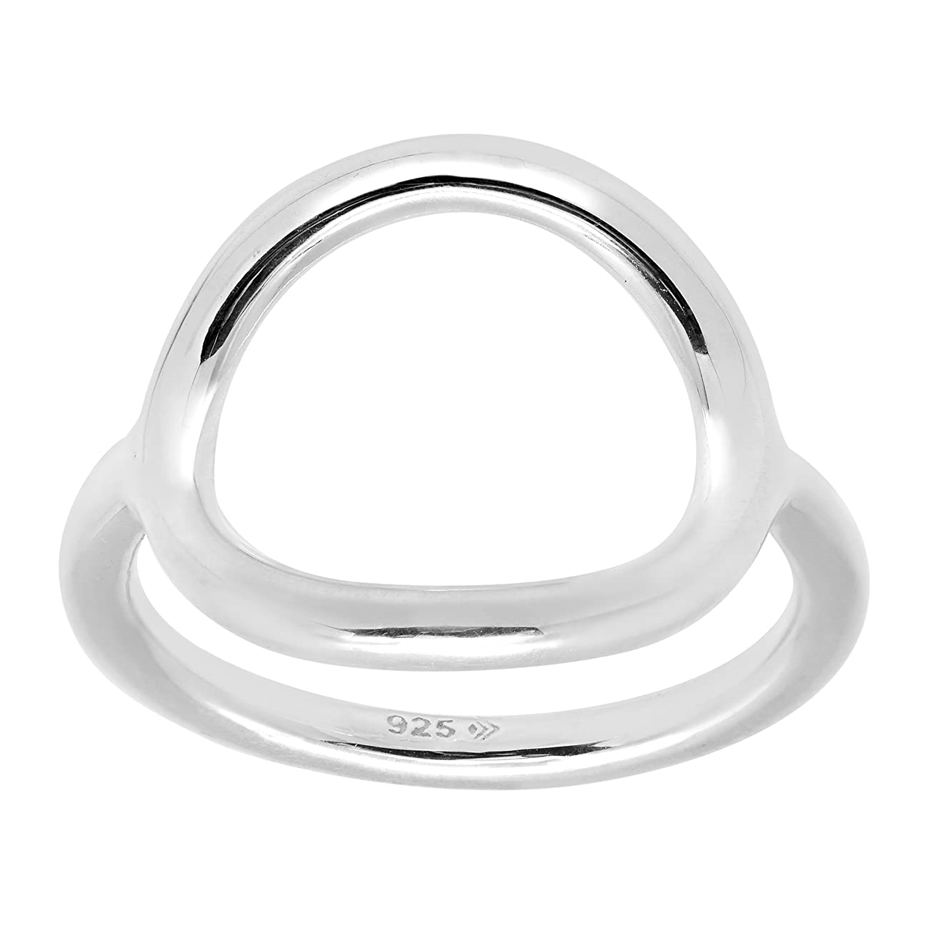 Silpada 'Karma' Open Circle Ring in Sterling Silver