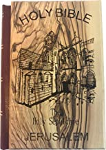 Jerusalem Bible, Olive Wood Cover carved with with Holy Sepulchre Church (English, 1094 pages)