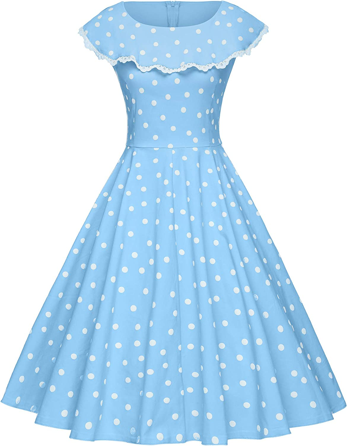 GownTown Vintage Polka Dot Retro Cocktail Prom Dresses 50's 60's Rockabilly Dresses