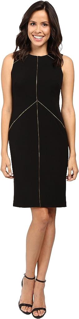 Sheath Dress with Zipper Detail CD6X1263