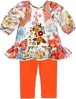 Kimono Flowers Babies Collection 80259 Emilee Dress & Leggings