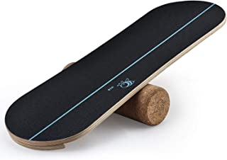 4TH Core Balance Board for Exercise Training-Board Exercise for Fitness with Roller- Board Balancing for Surf,Ski, Snowboa...