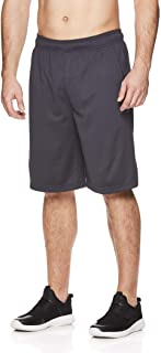 Reebok Men's Mesh Basketball Gym & Running Shorts w/Elastic Drawstring Waistband & Pockets