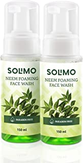 Amazon Brand - Solimo Neem Foaming Facewash (Pack of 2)