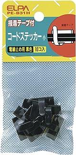 ELPA コードステッカー 黒メッキ 小 PE-B31H