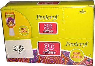 Yuktha Eternals Fevicryl 3D outliner Glitter Rangoli 407 (10nos/1box)